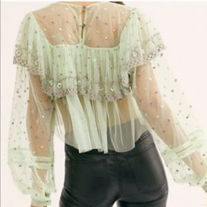 Free People Disco Ball Top Size S